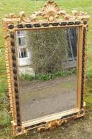 Large Ornate Gilt Framed Hanging Wall Mirror